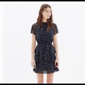 MADEWELL Radiant Dress in Inkspot Leopard